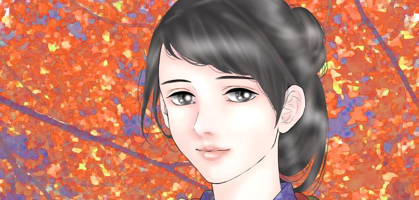 『龍起伝』の久子=画・anji56
