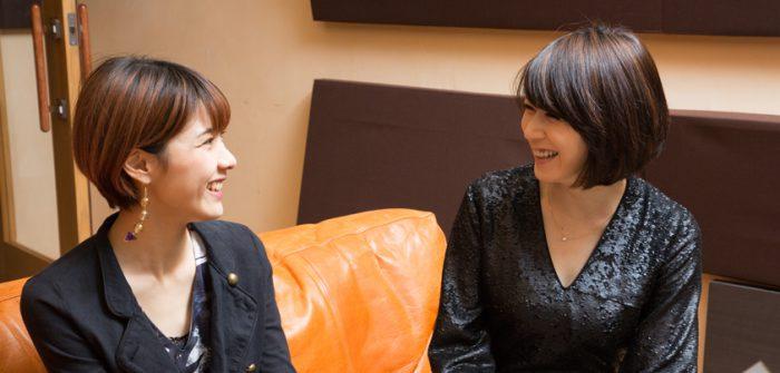 ハルカさん(左)と凰稀かなめさん=撮影・岩村美佳