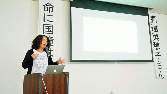 2018年3月3日(土)高遠菜穂子さん講演会=撮影・松中みどり