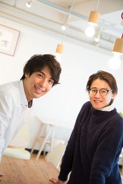 海宝直人さんと西川大貴さん=撮影・岩村美佳