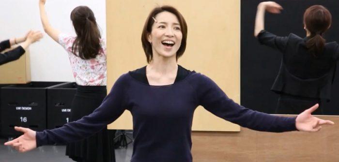 ミュージカル『ウーマン・オブ・ザ・イヤー』の公開稽古より=撮影・岩村美佳