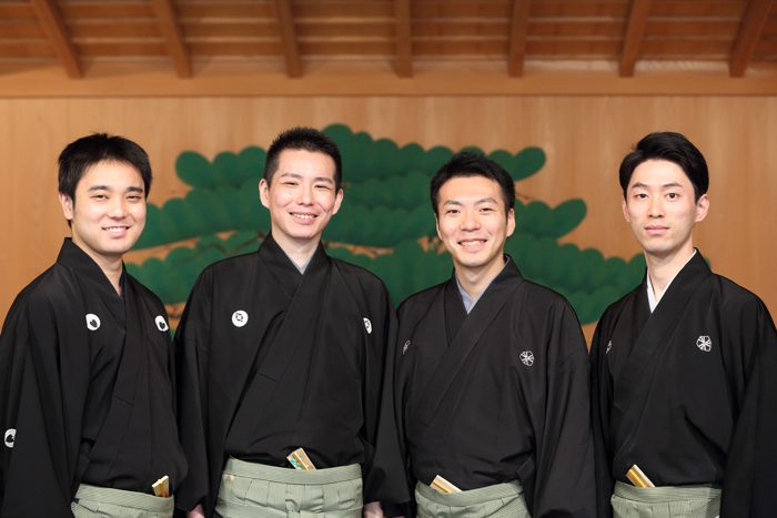 (左から)飯田豪さん、岡聡史さん、内藤連さん、中村修一さん=撮影・伊藤華織