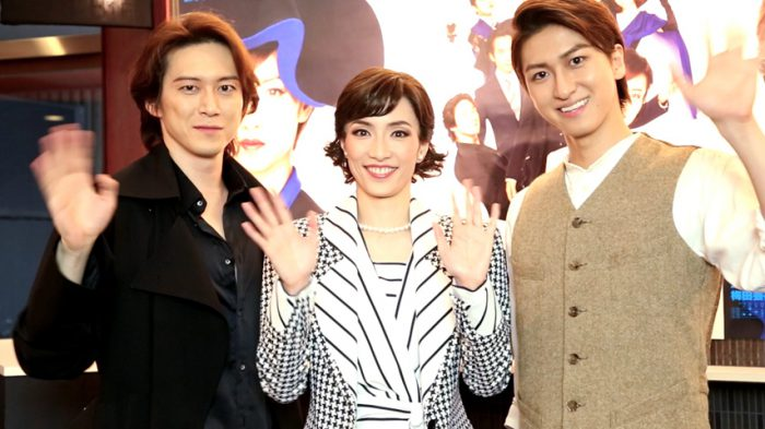 ミュージカル『ウーマン・オブ・ザ・イヤー』東京公演に向けた囲み取材より=撮影・岩村美佳