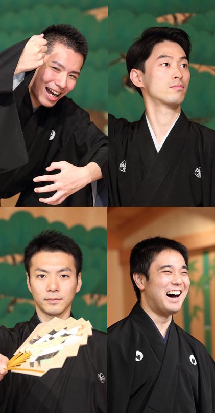 (左上から)岡聡史さん、中村修一さん、(左下から)内藤連さん、飯田豪さん=撮影・伊藤華織
