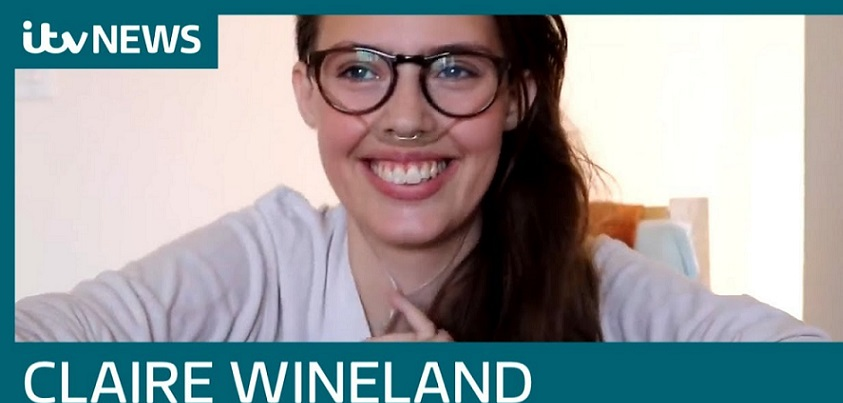 YouTubeの「Inspirational cystic fibrosis activist Claire Wineland dies after lung transplant 」=「ITV News」チャンネル より