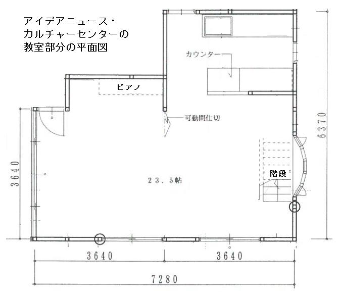 教室部分の見取り図