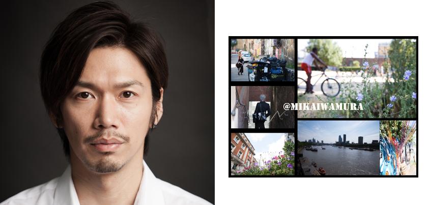 桜木涼介さん (左)と「Bumpy Lens –exhibition–」のビジュアル