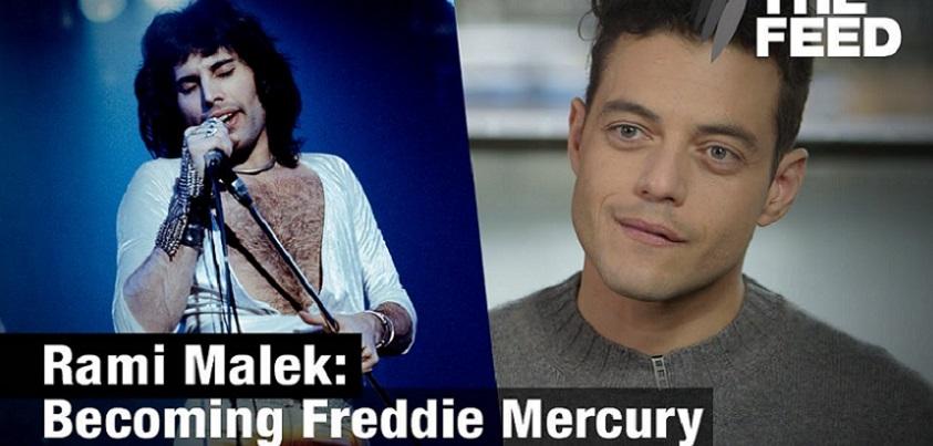 YouTubeの「Rami Malek : Becoming Freddie Mercury」=「The Feed」チャンネル より