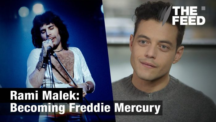 YouTubeの「Rami Malek : Becoming Freddie Mercury」=「The Feed」チャンネル より