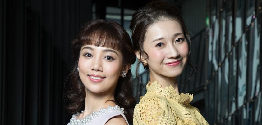 夢咲ねねさん(右)と咲妃みゆさん=撮影・岩村美佳