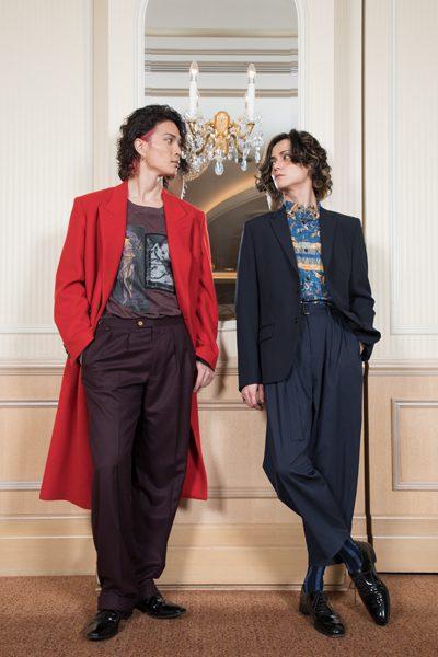 三浦涼介さん(右)と廣瀬友祐さん=撮影・岩村美佳