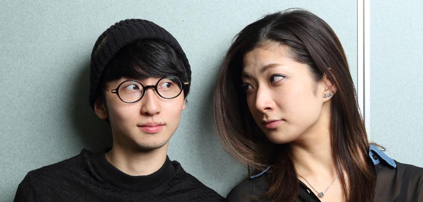 花瑛ちほさん(右)と若林佑真さん(左)=撮影・伊藤華織