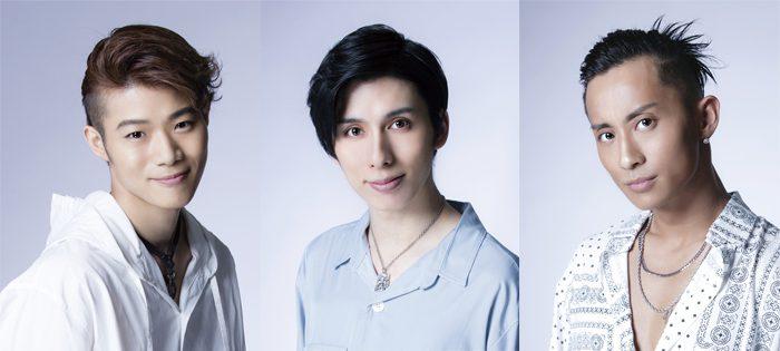 新メンバーの廣瀬真平さん(左)、新開理雄さん(中)、Homerさん(右)=「DIAMOND☆DOGS」PROFILEページより