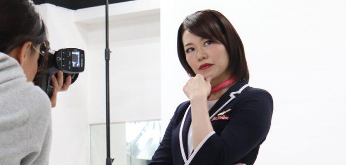 ミュージカル『Live Airline』ライブエアライン、ビジュアル撮影より、宇月颯さん(右)=撮影・橘涼香