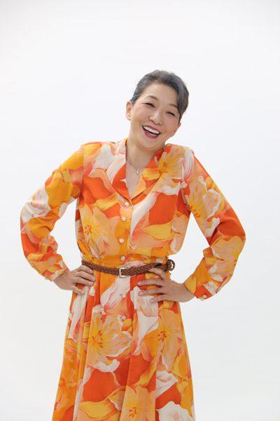 ミュージカル『Live Airline』ライブエアライン、ビジュアル撮影より、山崎佳美さん=撮影・橘涼香