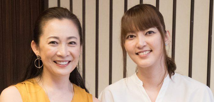 朝夏まなとさん(写真右)と香寿たつきさん=撮影・岩村美佳