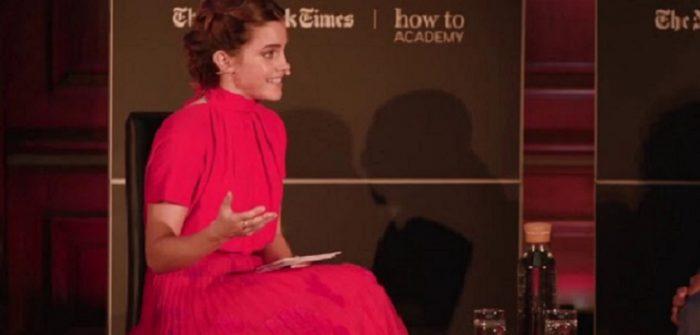 YouTubeの「Emma Watson in conversation with Dr. Denis Mukwege 」=Emma Watson Updatesチャンネルより