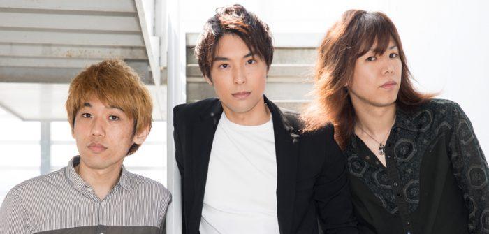 CYANOTYPE /シアノタイプの海宝直人さん(写真中央)、小山将平さん(同右)、西間木陽さん(同左)=撮影・岩村美佳