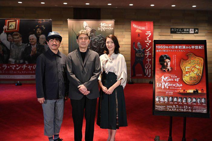 ミュージカル『ラ・マンチャの男』 囲み取材より=撮影・大西二士男