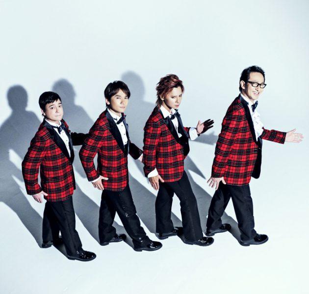 オフ・ブロードウェイ・ミュージカル『Forever Plaid』ビジュアル、(左から)川平慈英さん、長野博さん、松岡充さん、鈴木壮麻さん