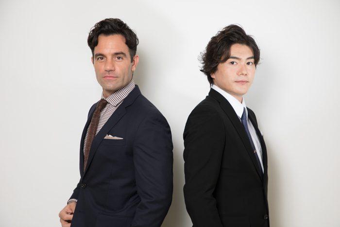 ラミン・カリムルーさん(左)と佐藤隆紀さん(右)=撮影・岩村美佳