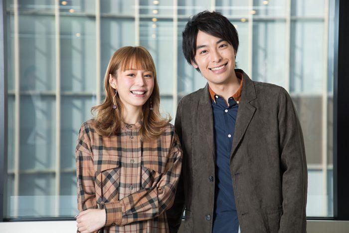 海宝直人さん(右)と平野綾さん(左)=撮影・岩村美佳