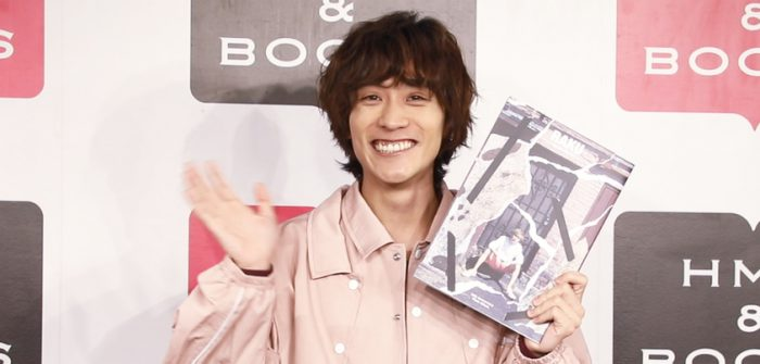 平間壮一 30歳誕生日、30th Anniversary Photo Album『RAKU』/DVD付 発売 囲み取材より=撮影・岩村美佳
