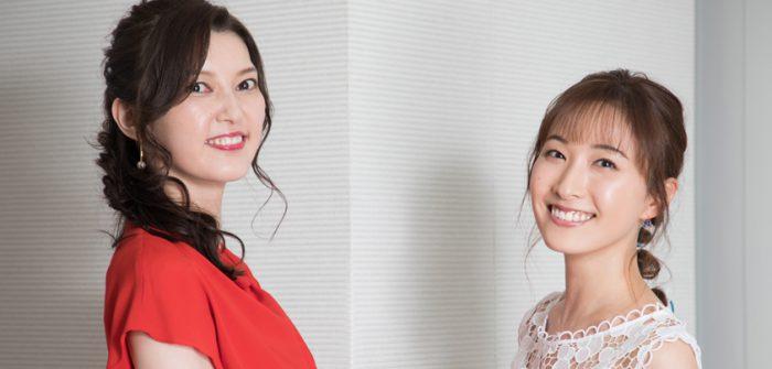 朝夏まなとさん(左)と実咲凜音さん(右)=撮影・岩村美佳
