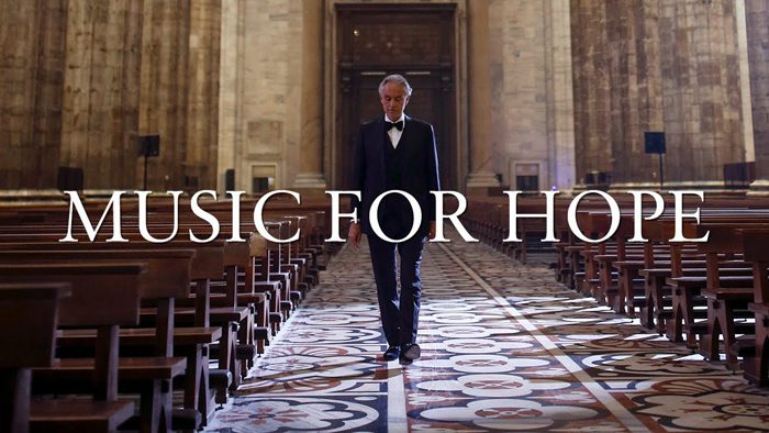 「Andrea Bocelli: Music For Hope - Live From Duomo di Milano」動画(YouTubeのAndrea Bocelliチャンネルより)