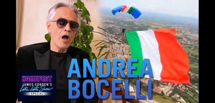 YouTubeの『Andrea Bocelli Performs 'Con te partiro' from Italy 』チャンネルより