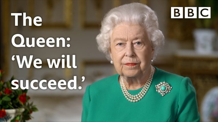 YouTubeのThe Queen's Coronavirus broadcast: 'We will meet again' BBC チャンネルより