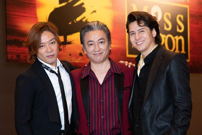 駒田一さん(中)、伊礼彼方さん(右)、東山義久さん(左)=撮影・岩村美佳