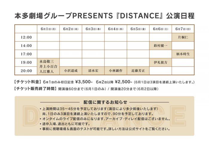 『DISTANCE』タイムテーブル