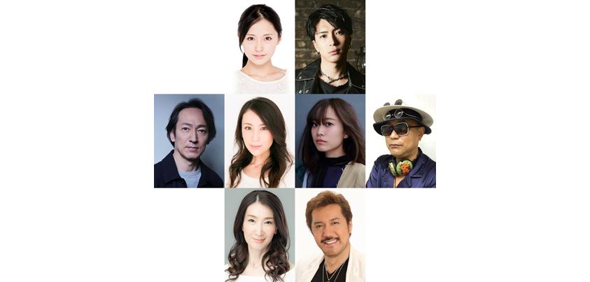 ミュージカル『ハウ・トゥー・サクシード』出演者(上段左から)笹本玲奈さん、松下優也さん、(中央左から) 鈴木壮麻さん、雛形あきこさん、林愛夏さん、ブラザートム さん、(下段左から)春野寿美礼さん、今井清隆さん