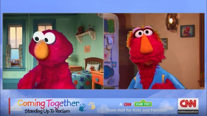 YouTubeのElmo and his dad Louie talk about racism and protesting . CNN NEWS  CNN Officialチャンネルより
