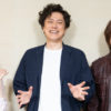 山口祐一郎さん(写真中央)、浦井健治さん(同右)、保坂知寿さん(同左)=撮影・岩村美佳