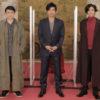 左から田口トモロヲさん、山本耕史さん、大沢たかおさん、古川雄大さん、村井良大さん