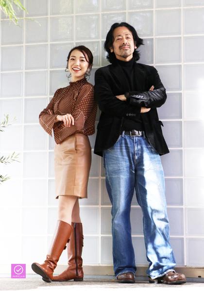 高野菜々さんと広田勇二さんのアイデアニュース・プレゼント用写真=撮影・村岡侑紀