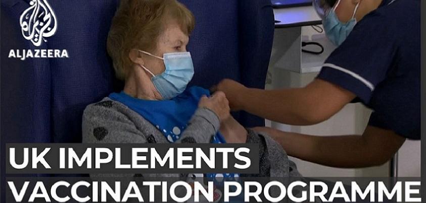 YouTubeのThousands across UK receive COVID-19 vaccine  Al Jazeera Englishチャンネルより