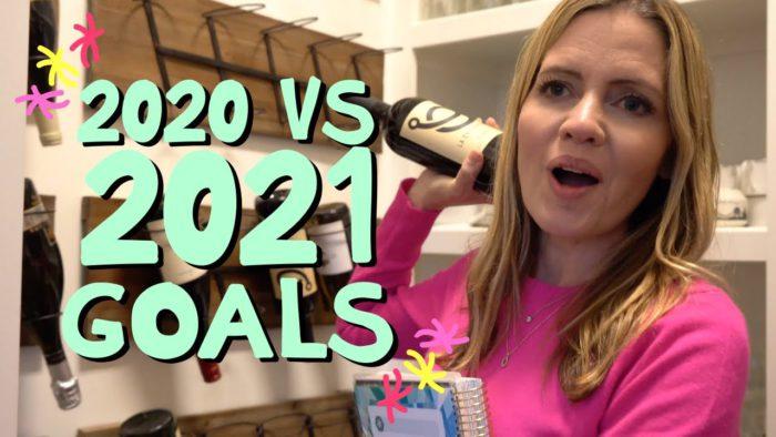 2020 vs 2021 Goals Holderness Family Vlogsチャンネルより