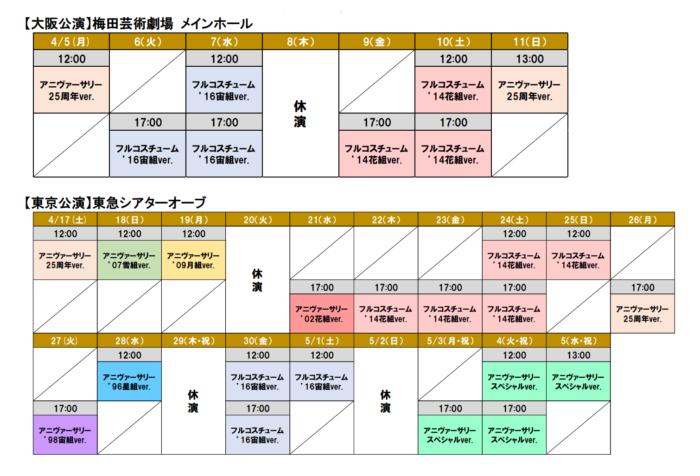 『エリザベート TAKARAZUKA25周年スペシャル・ガラ・コンサート』公演スケジュール