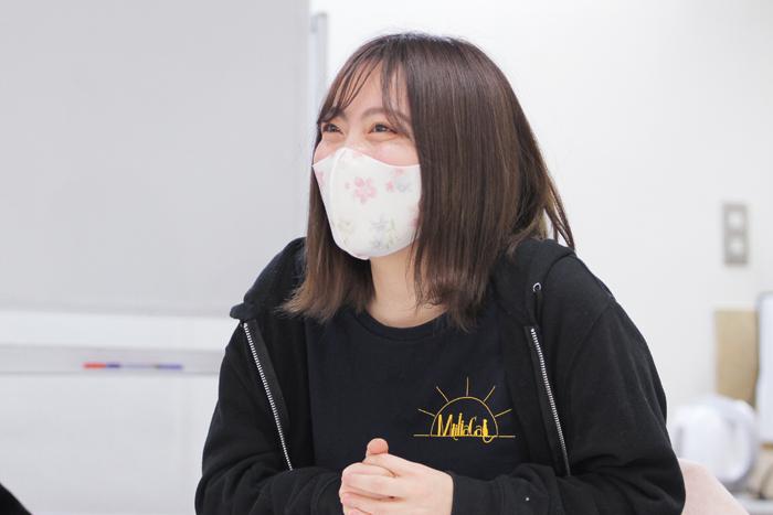 コゼット役と監督・演出を担当した大阪大学3回生の山上深愛さん=撮影・橋本正人