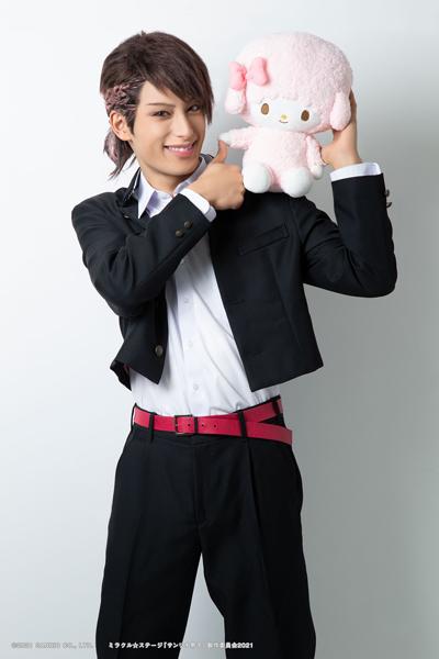 緒方尊比古役の武子直輝さん=(C)2021 SANRIO CO., LTD.   ミラクル☆ステージ『サンリオ男子』製作委員会2021  S/F・G