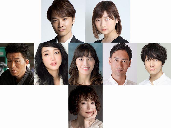 (上段左より)井上芳雄さん、伊藤沙莉さん(中段左より)高橋努さん、入山法子さん、太田緑ロランスさん、石田佳央さん、和田琢磨さん(下段)若村麻由美さん