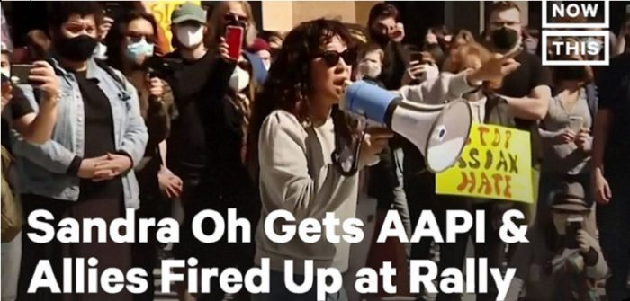 Sandra Oh Gives Fiery Speech at Rally Against Asian Hate      YouTubeチャンネル NowThis News