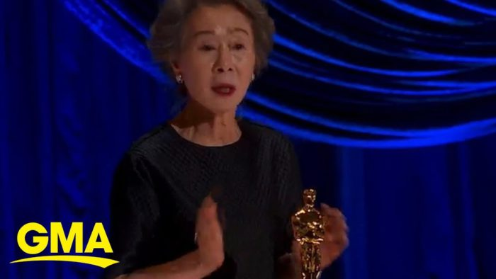 Yuh-jung Youn wins Best Supporting Actress  YouTubeチャンネルGMAより