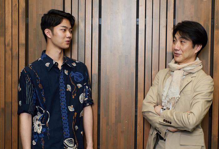 野村萬斎さん(右)と野村裕基さん(左)=撮影・NORI