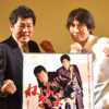 (左から)徳竹未夏さん、赤井英和さん、上西雄大さん、古川藍さん