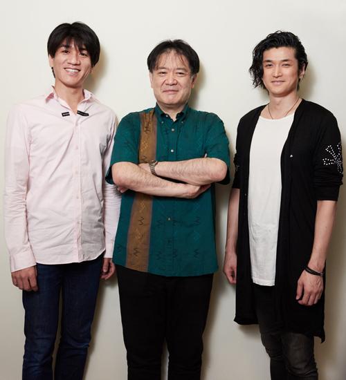 渡部玄一さん(中央)と佐賀龍彦さん(左)と渡辺大輔さん(右)=撮影・NORI