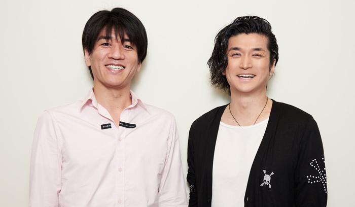 佐賀龍彦さん(左)と渡辺大輔さん(右)=撮影・NORI